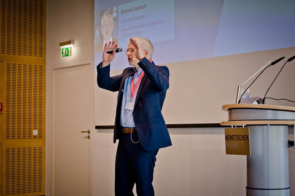 Michael Zaddach (Flughafen München) »Flughafen im Wandel: Vom Infrastrukturbetreiber zum kundenzentrierten Unternehmen «