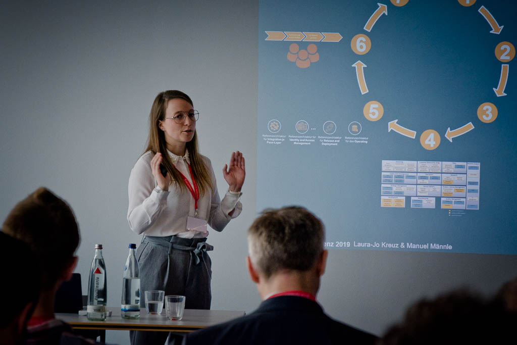 Laura-Jo Kreuz (Testo SE & Co. KGaA) »Pace-Layer-optimierte Referenzarchitekturen«