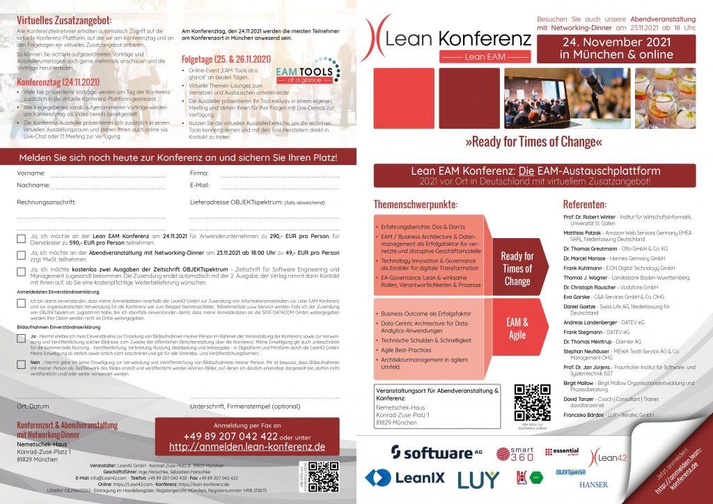 Lean EAM Konferenz 2021 Programmbroschüre 12-Seiter Stand 30.07.2021 (Änderungen vorbehalten)